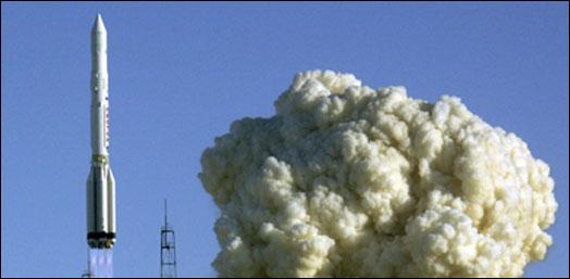إطلاق القمر الصناعي الأوروبي سيتم بصاروخ من طراز بروتون (الفرنسية-أرشيف)