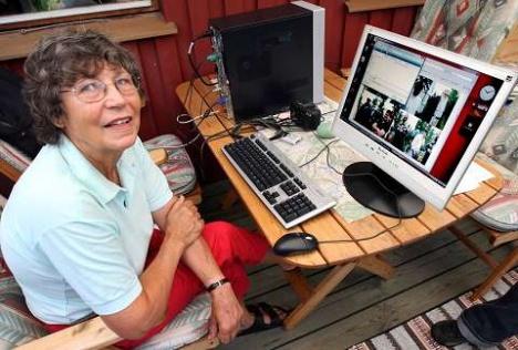 """""""سيغبريت لوتبيرغ"""" (Sigbritt Lothberg) صاحبة اسرع انترنت في العالم"""