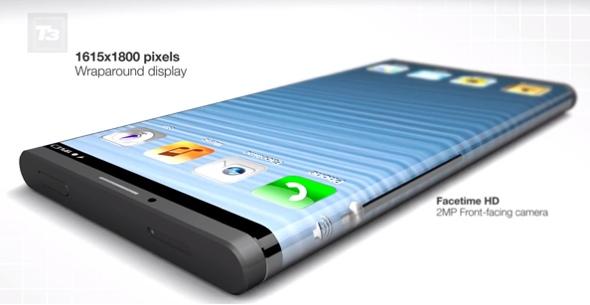 تصميم تخيلي جديد يظهر الآيفون 6 بشاشة ملتفة حول الجهاز